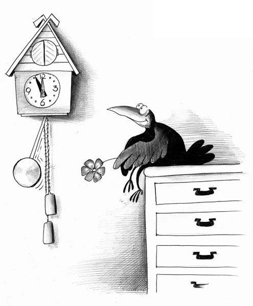 Смешные картинки часы с кукушкой